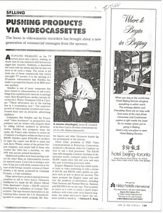 Thumbnail of Videocassette marketing article
