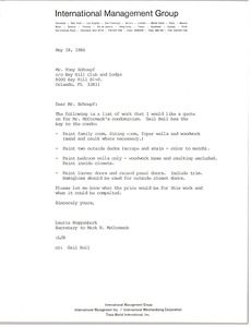 Thumbnail of Letter from Laurie Roggenburk to Tony Schoepf