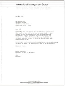 Thumbnail of Letter from Laurie Roggenburk to Sidney Korn