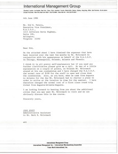 Thumbnail of Letter from Judy Stott to Sid R. Peters