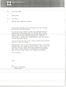 Thumbnail of Letter from Judy Stott to Doug Pirnie