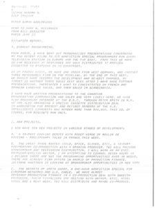 Telex printout from Bill Bemister to Mark H. McCormack