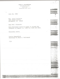 Thumbnail of Letter from Laurie Roggenburk to Larry Stainton