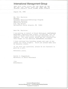 Thumbnail of Letter from Laurie Roggenburk to M. E. Raulston