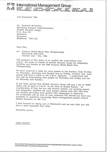 Thumbnail of Letter from Judy Stott to Desmond McCarthy