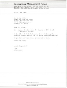 Thumbnail of Letter from Laurie Roggenburk to Cathy Zulfer
