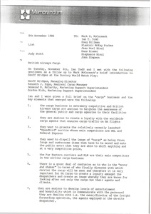 Thumbnail of Memorandum from Judy Stott to list