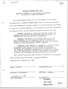 Thumbnail of Playboy Board of Directors Consent Form