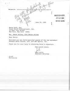 Thumbnail of Letter from Joel Lulla to Betsy Goff