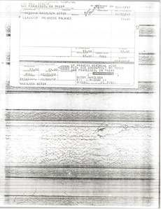 Thumbnail of Saint Francis Memorial Hospital invoice