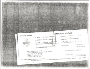 Thumbnail of United Airlines Red Carpet Club membership renewal form