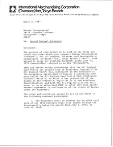 Thumbnail of Letter from Arthur J. Lafave to Renown Incorporated