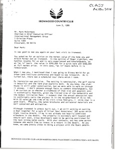Thumbnail of Letter from R. L. Spicer to Mark H. McCormack