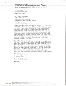 Thumbnail of Letter from Mark H. McCormack to Jerry H. Pyle