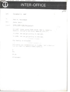Thumbnail of Memorandum from Peter Smith to Mark H. McCormack
