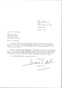 Thumbnail of Letter from Dana I. Alvi to Mark H. McCormack