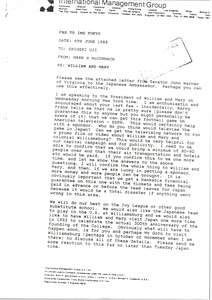 Thumbnail of Letter from Mark H. McCormack to Shigeki Uji