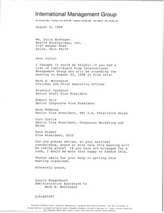 Thumbnail of Letter from Laurie Roggenburk to Julie Buchagen