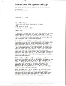 Letter from Mark H. McCormack to John Akers