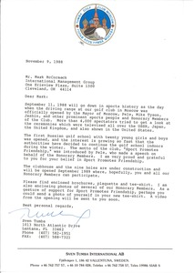 Thumbnail of Letter from Sven Tumba to Mark H. McCormack