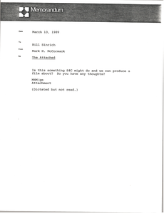 Memorandum from Mark H. McCormack to Bill Sinrich