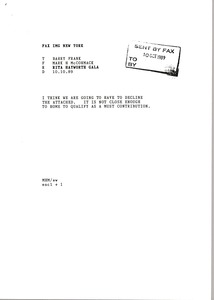 Thumbnail of Fax from Mark H. McCormack to Barry Frank