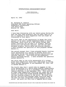 Thumbnail of Letter from Mark H. McCormack to Wolfgang R. Schmitt