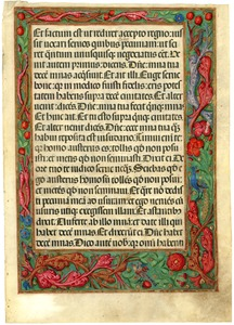 Thumbnail of Lectionary with reading from Luke 19 [manuscript leaf]