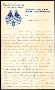 Thumbnail of Letter from Charles E. Jackson to Sara D. Fitz