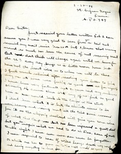 Thumbnail of Letter from Charles E. Jackson to Thomas W. Jackson