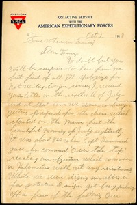 Thumbnail of Letter Cornelius Lucey to Thomas W. Jackson