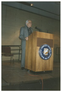Thumbnail of Sidney Lipshires lecturing at Manchester Community College