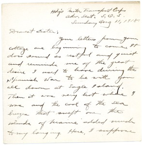 Thumbnail of Letter from Brainerd Taylor to Harriet M. Taylor