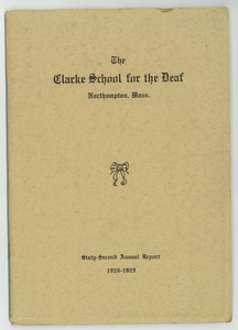 Thumbnail of Sixty-Second Annual Report of the Clarke School for the Deaf, 1928-1929