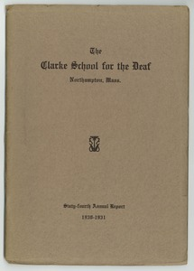 Thumbnail of Sixty-Fourth Annual Report of the Clarke School for the Deaf, 1930-1931