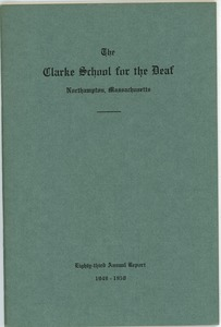 Thumbnail of Eighty-Third Annual Report of the Clarke School for the Deaf, 1949-1950