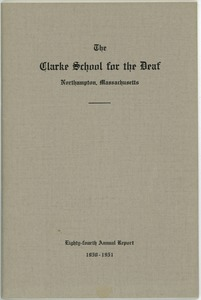Thumbnail of Eighty-Fourth Annual Report of the Clarke School for the Deaf, 1950-1951