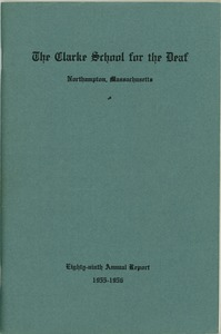 Thumbnail of Eighty-Ninth Annual Report of the Clarke School for the Deaf, 1955-1956