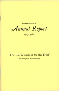 Thumbnail of Ninety-seventh Annual Report of the Clarke School for the Deaf, 1964