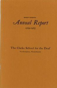 Thumbnail of Ninety-eight Annual Report of the Clarke School for the Deaf, 1965