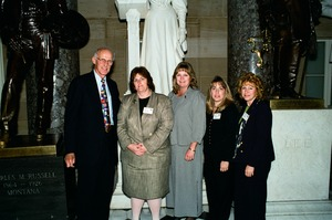 Thumbnail of Congressman John W. Olver: with group of visitors to the capitol