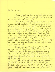 Thumbnail of Letter from Judi Chamberlin to Dr. Kronenberg