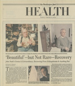 Thumbnail of 'Beautiful' - but not rare - recovery John Nash's genius is extraordinary. Recovering from schizophrenia is anything but.