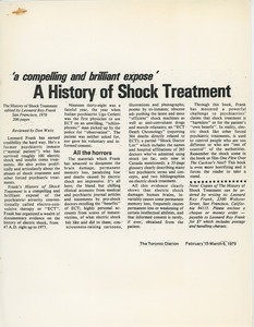 Thumbnail of The History of shock treatment