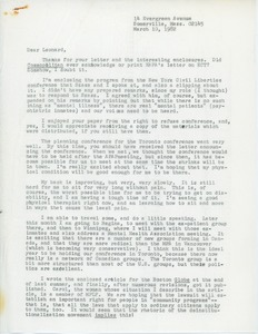 Thumbnail of Letter from Judi Chamberlin to Leonard Roy Frank