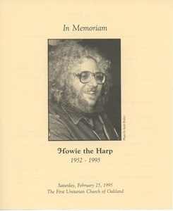 Thumbnail of In memoriam Howie the Harp