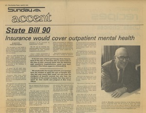 Thumbnail of State bill 90 Insurance would cover outpatient mental health