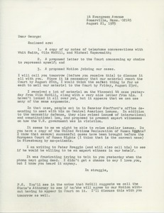 Thumbnail of Letter from Judi Chamberlin to George Ebert