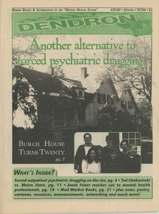 "Thumbnail of Dendron human rights & alternatives to the ""mental health system"" no. 39/40 Winter 1997/98"