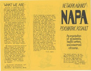 Thumbnail of NAPA: An Organization of ex-patients, health workers, and concerned citizens
